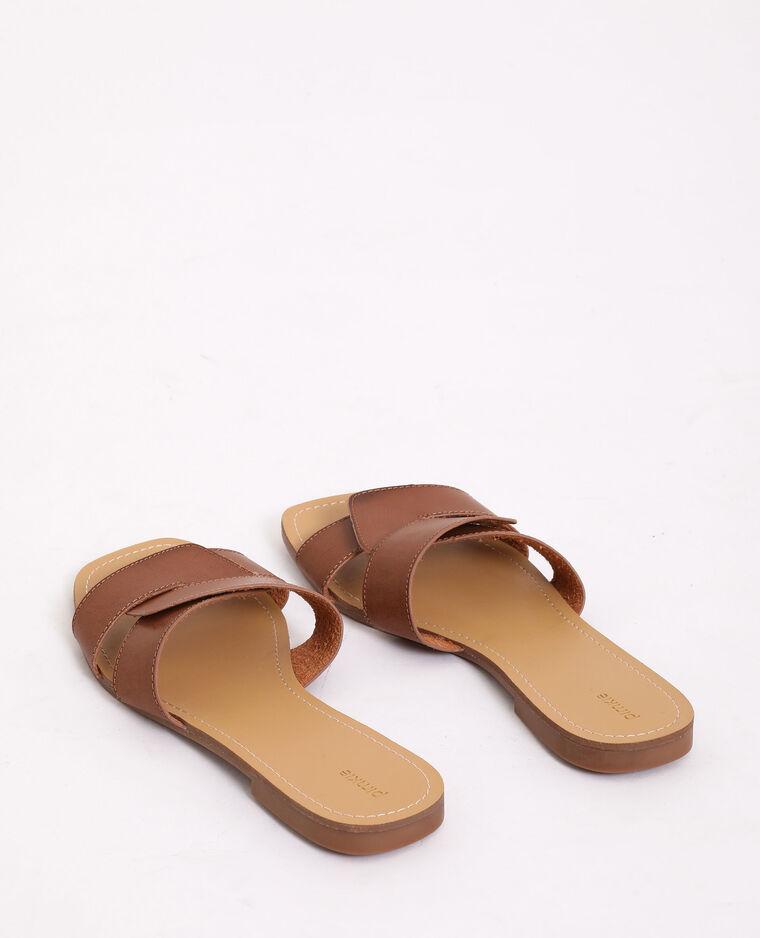 Sandales plates marron - Pimkie