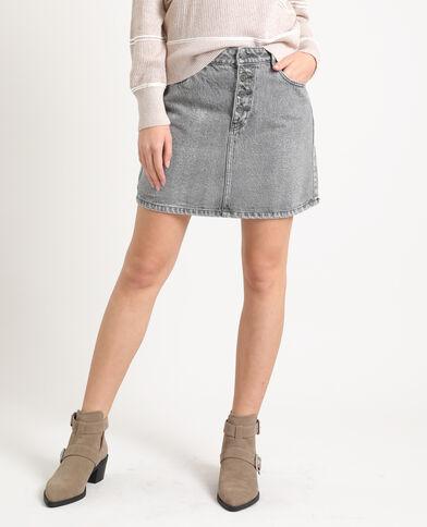 Jupe en jean gris - Pimkie