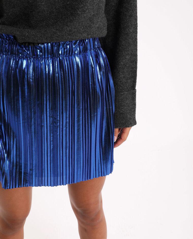 Jupe plissée Bleu