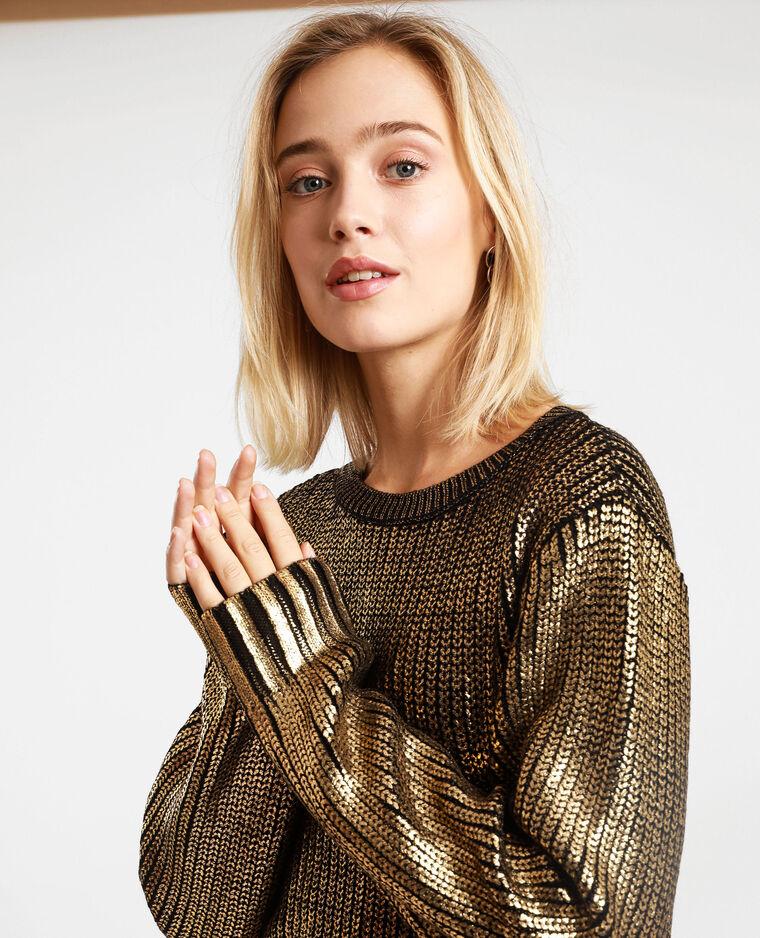 Pull brillant doré