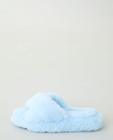 Mules moumoutes bleu denim - Pimkie
