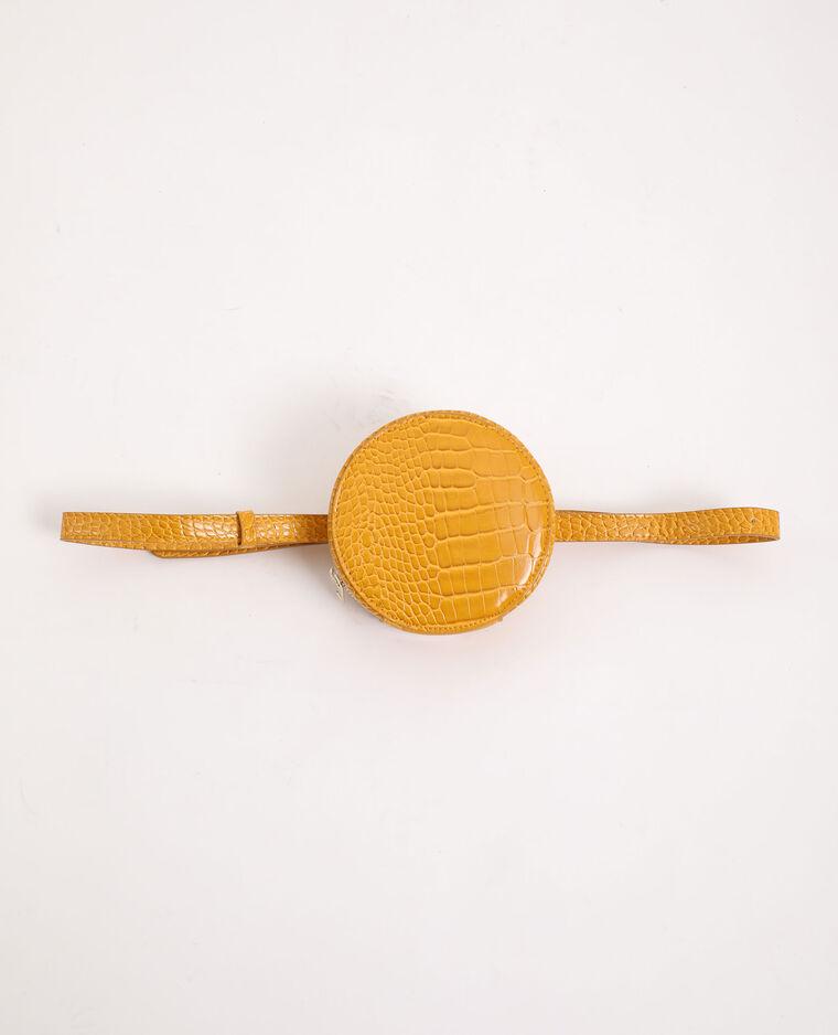 Pochette ronde avec ceinture jaune - Pimkie