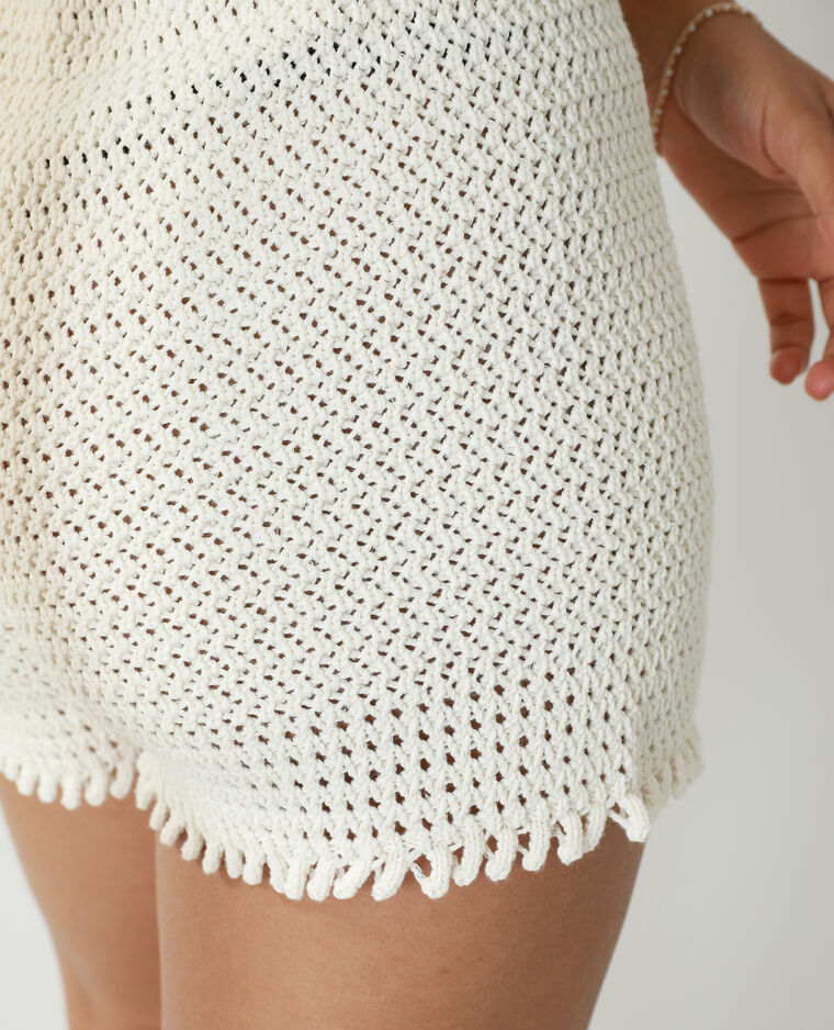 Short en crochet blanc cassé - Pimkie