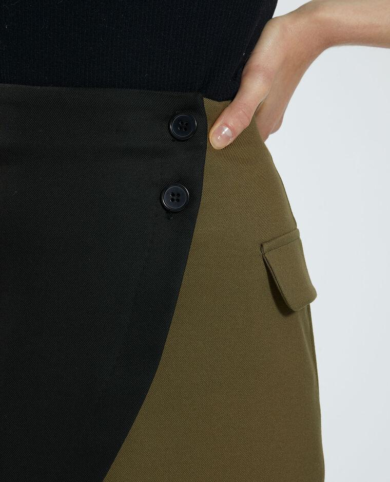 Jupe portefeuille noir - Pimkie
