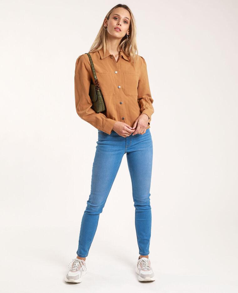 Jean skinny mid waist bleu délavé - Pimkie