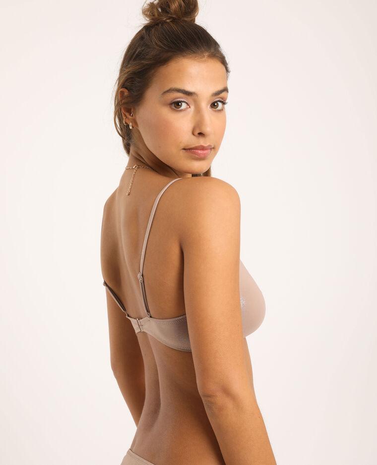 Haut de bikini triangle cuivré