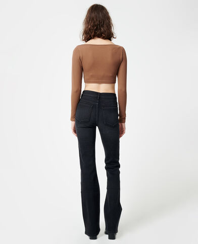 Jean bootcut noir - Pimkie