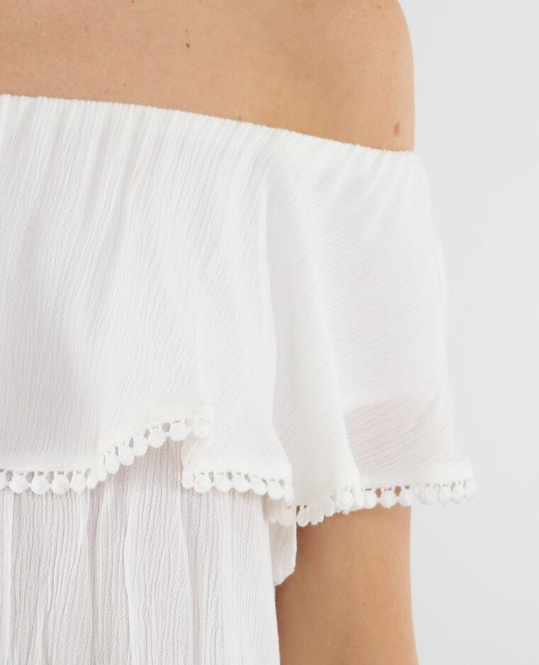 Top épaules dénudées blanc