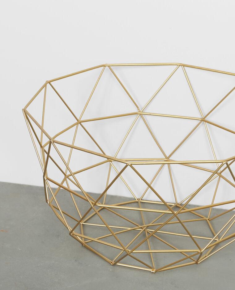 Corbeille métallique doré