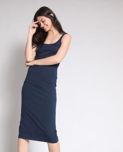 Robe moulante bleu marine