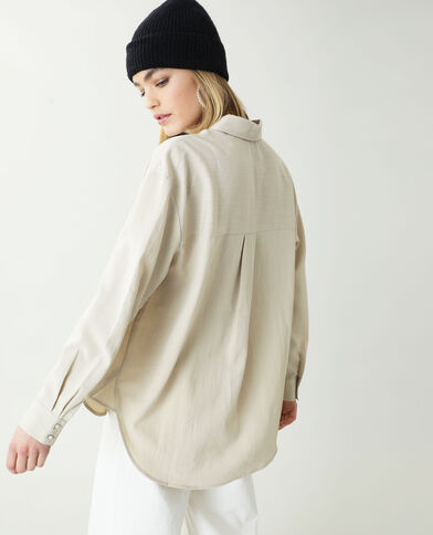 Chemise oversize beige ficelle