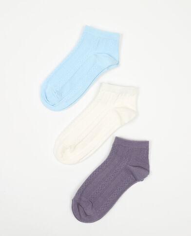 Lot de 3 paires de chaussettes maille fantaisie blanc - Pimkie