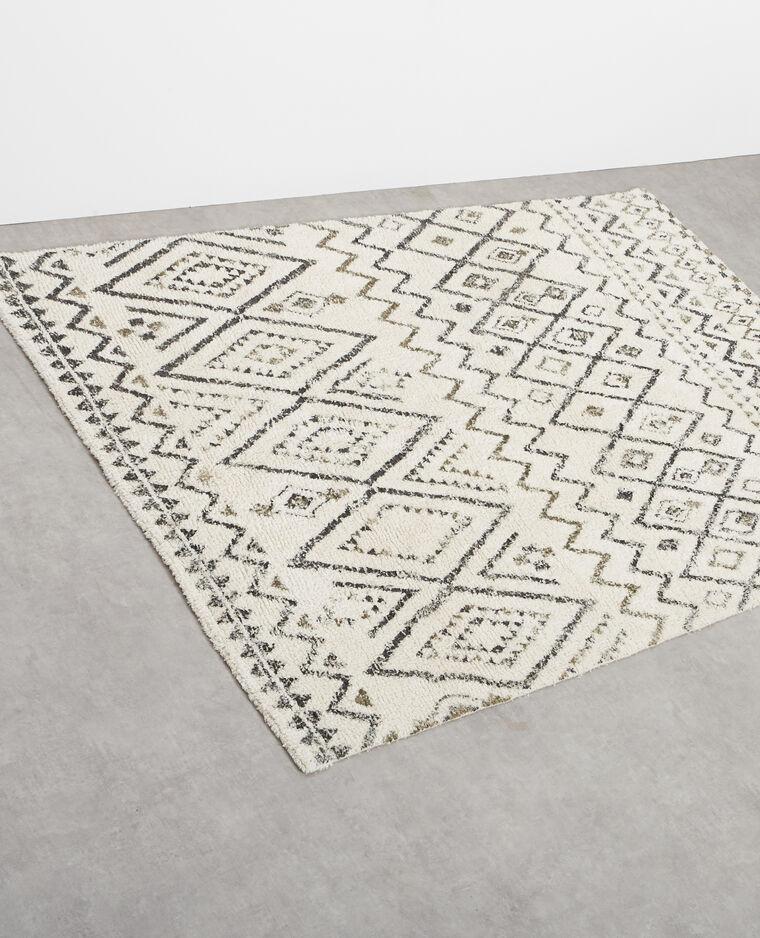 grand tapis berbre blanc cass - Tapis Blanc