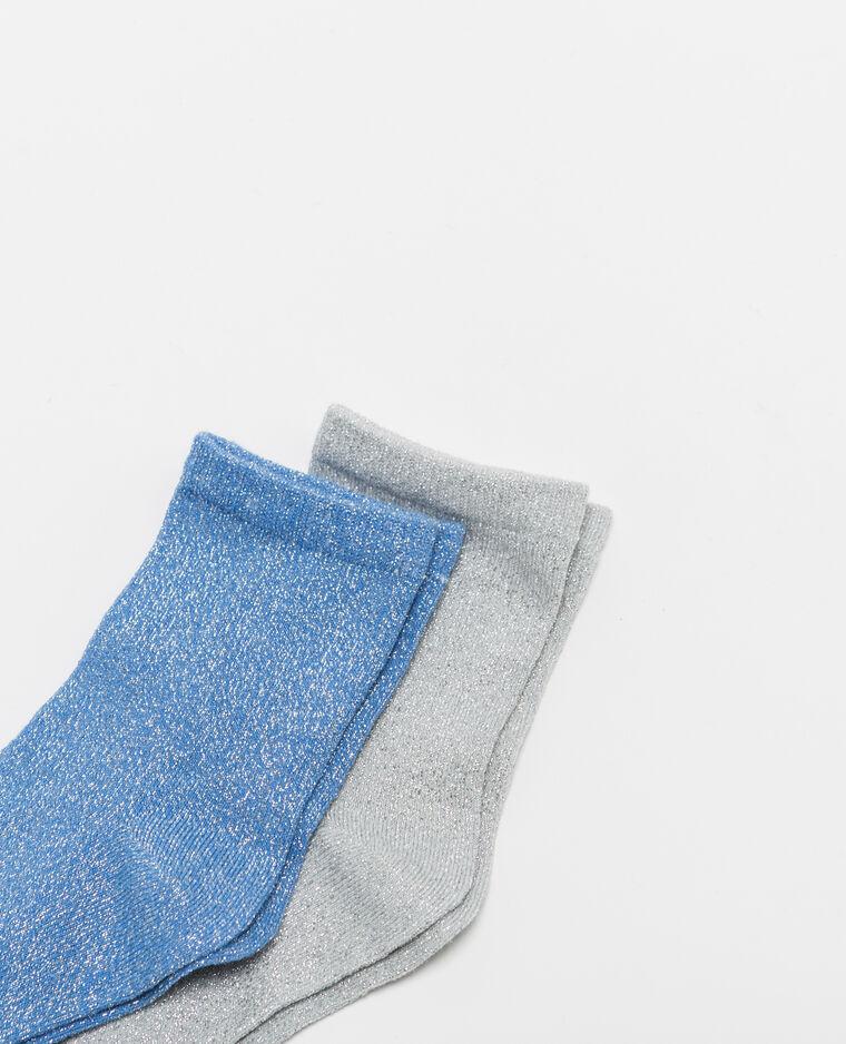 Lot de 2 paires de chaussettes lurex noir