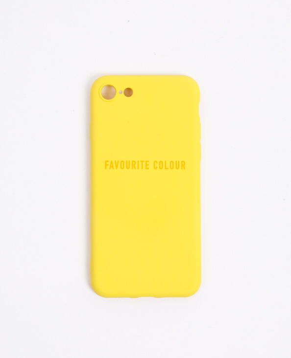 Coque compatible iPhone jaune