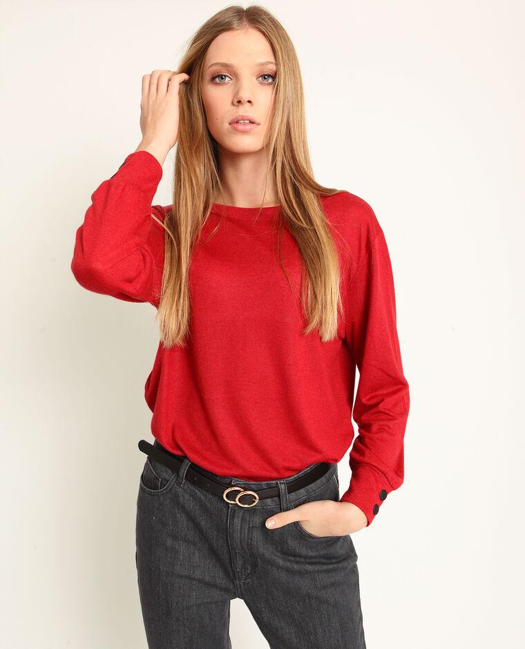 T-shirt à dos ouvert rouge