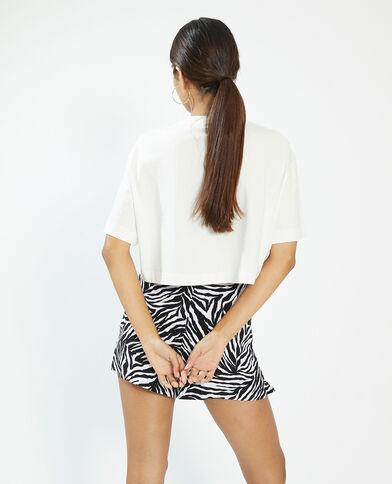 T-shirt cropped blanc - Pimkie
