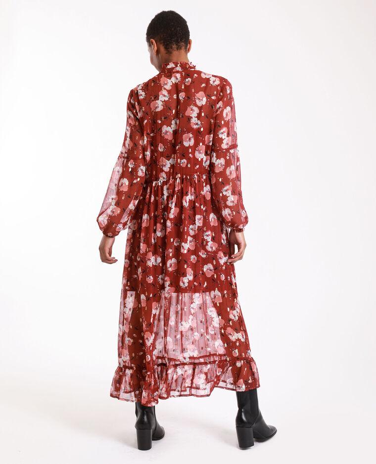 Robe longue à fleurs rose - Pimkie