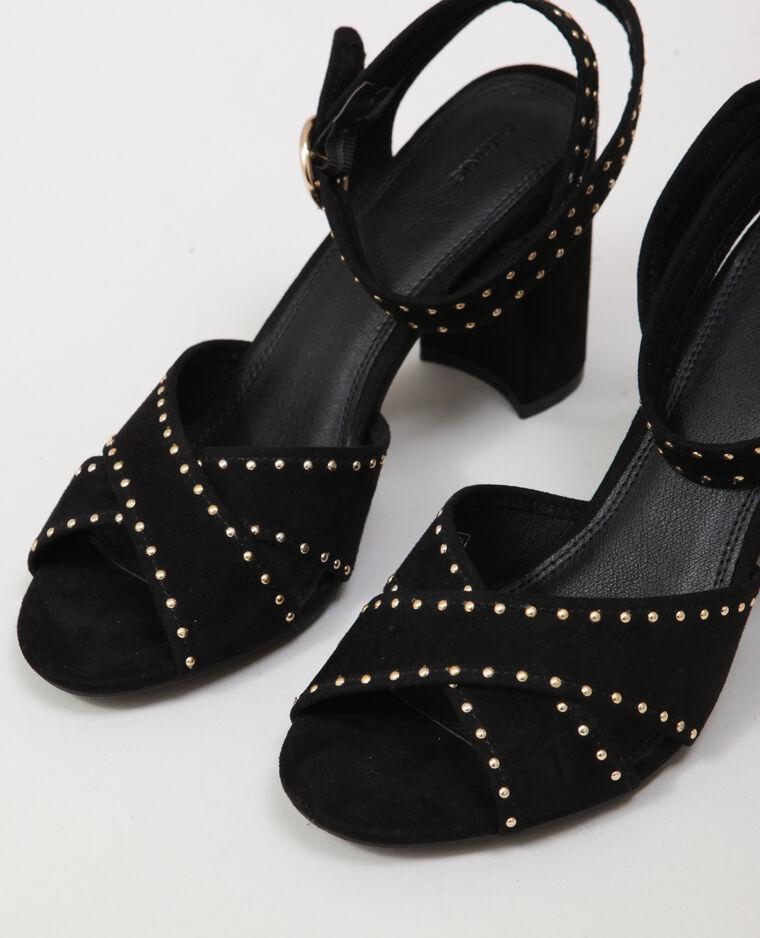 Sandales à clous noir