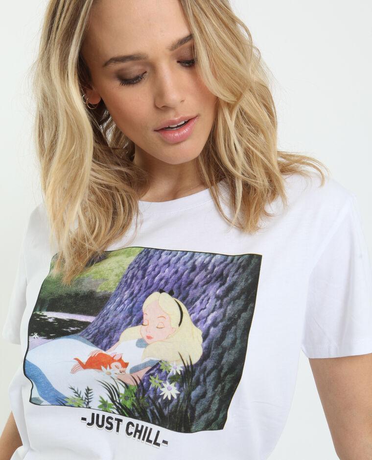 T-shirt Alice au pays des merveilles blanc