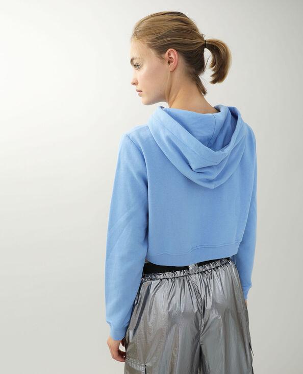 Cropped sweat zippé bleu - Pimkie