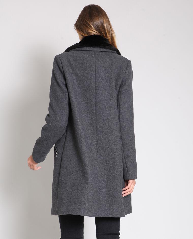 Manteau long gris