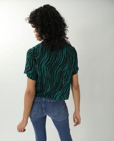 Chemise tigrée noir + vert