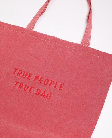 Grand tote bag 100% recyclé rose