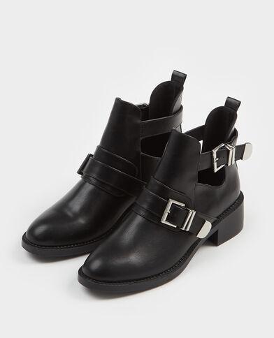 Boots à sangles noir - Pimkie