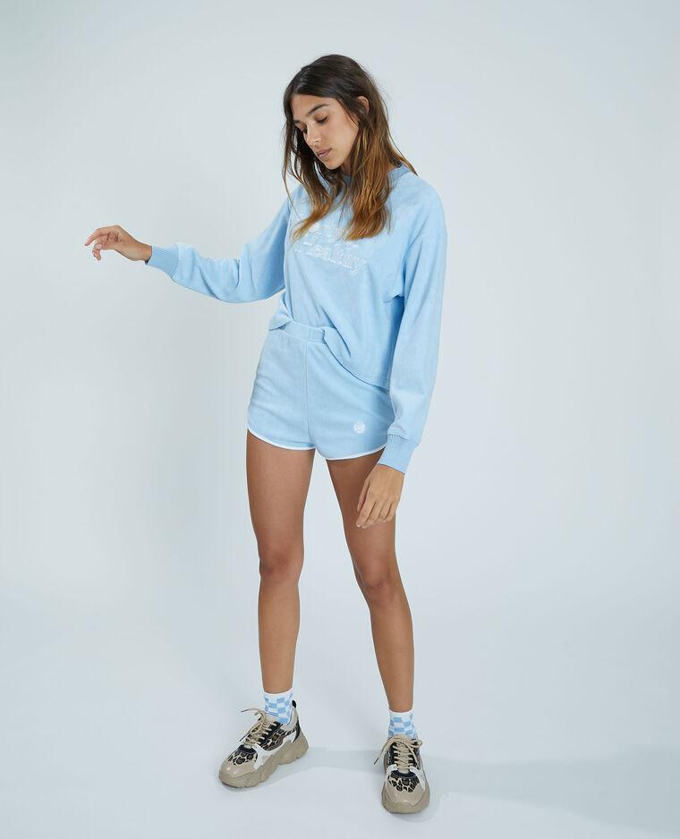 Short éponge bleu - Pimkie