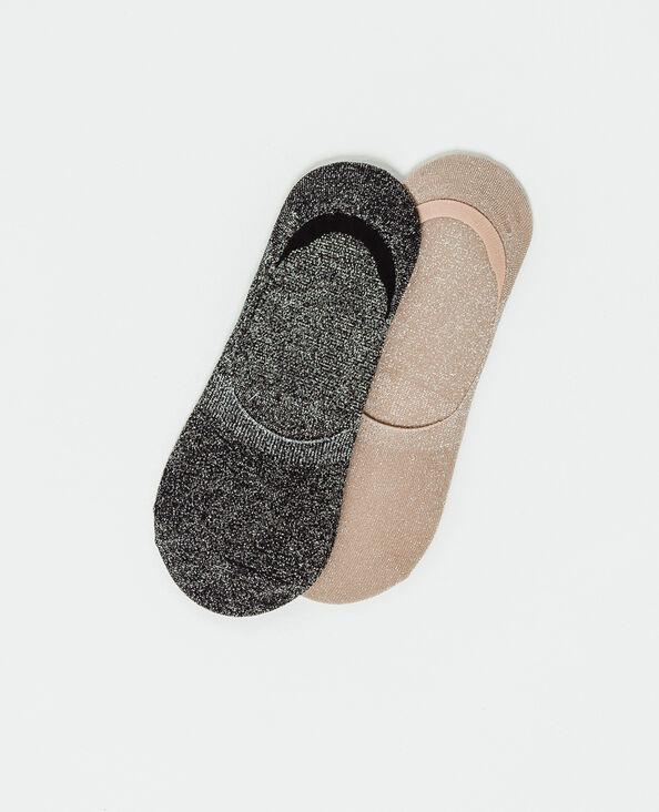 Lot de deux paires de chaussettes basses rose poudré