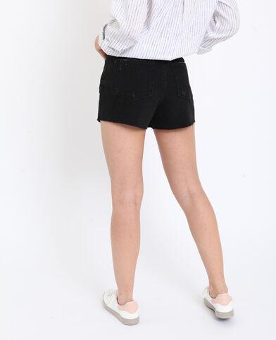 Short en jean high waist noir
