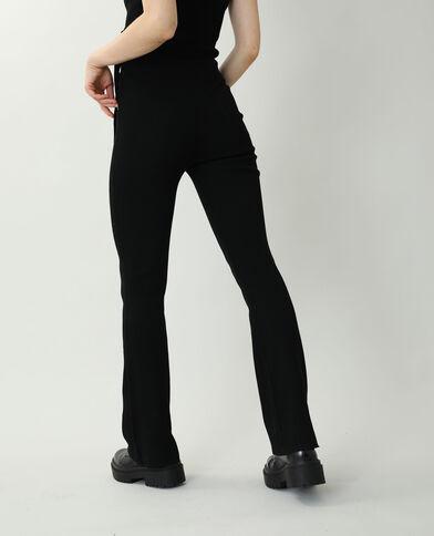 Pantalon tricot noir
