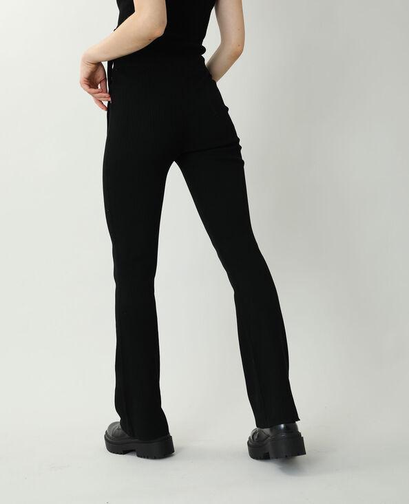 Pantalon tricot noir - Pimkie