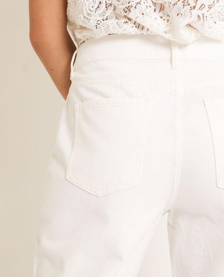 Jean straight high waist blanc