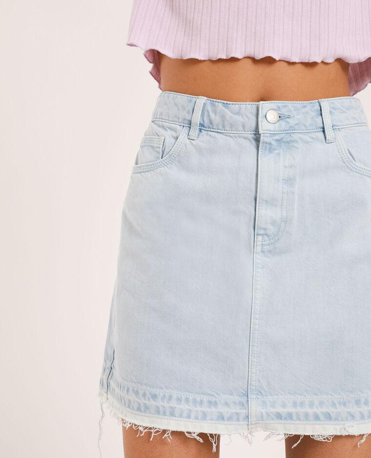 Jupe en jean clair bleu clair