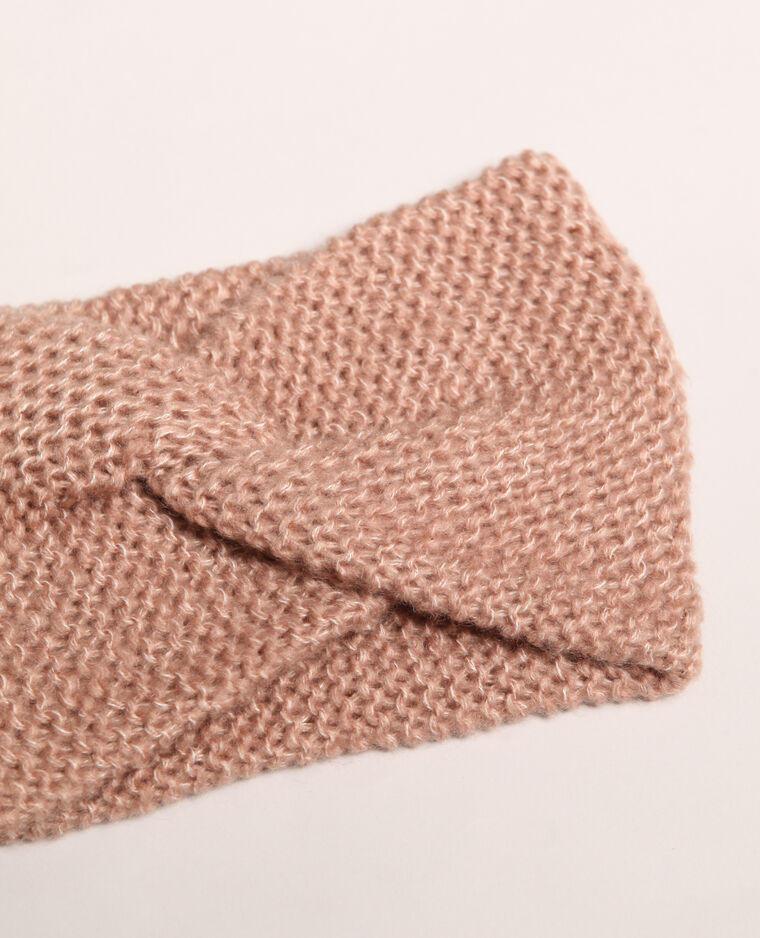 Headband twisté beige