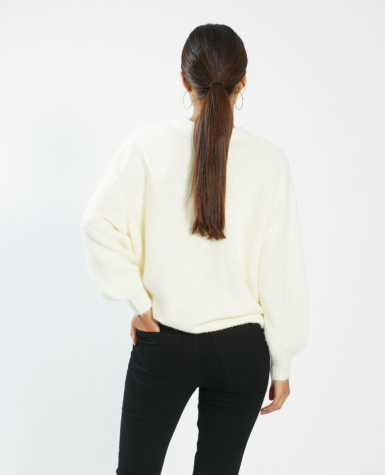 Pull oversize blanc - Pimkie