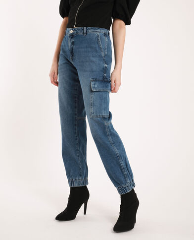 Jean battle mid waist bleu denim