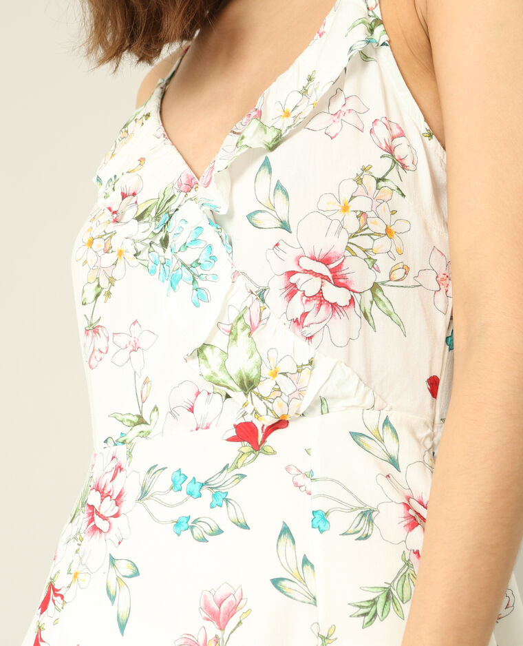 Robe imprimé fleuri blanc - 780873905E0A   Pimkie af5a9ce1eec6