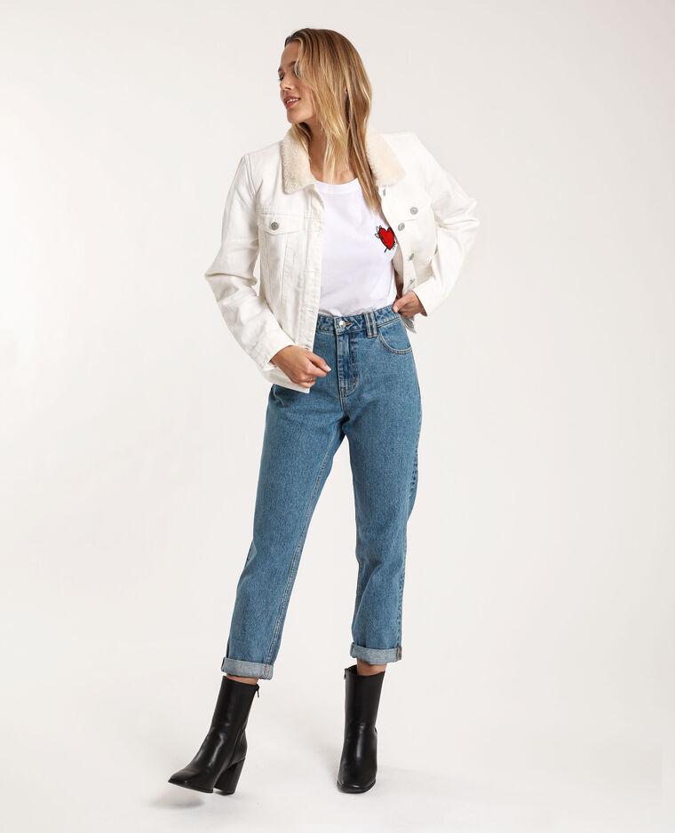 Veste en jean doublée écru - Pimkie