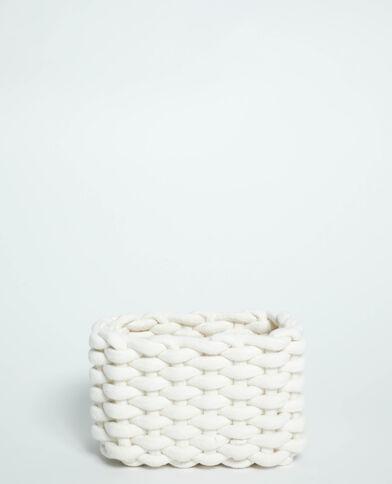 Petite box de rangement tressée blanc - Pimkie