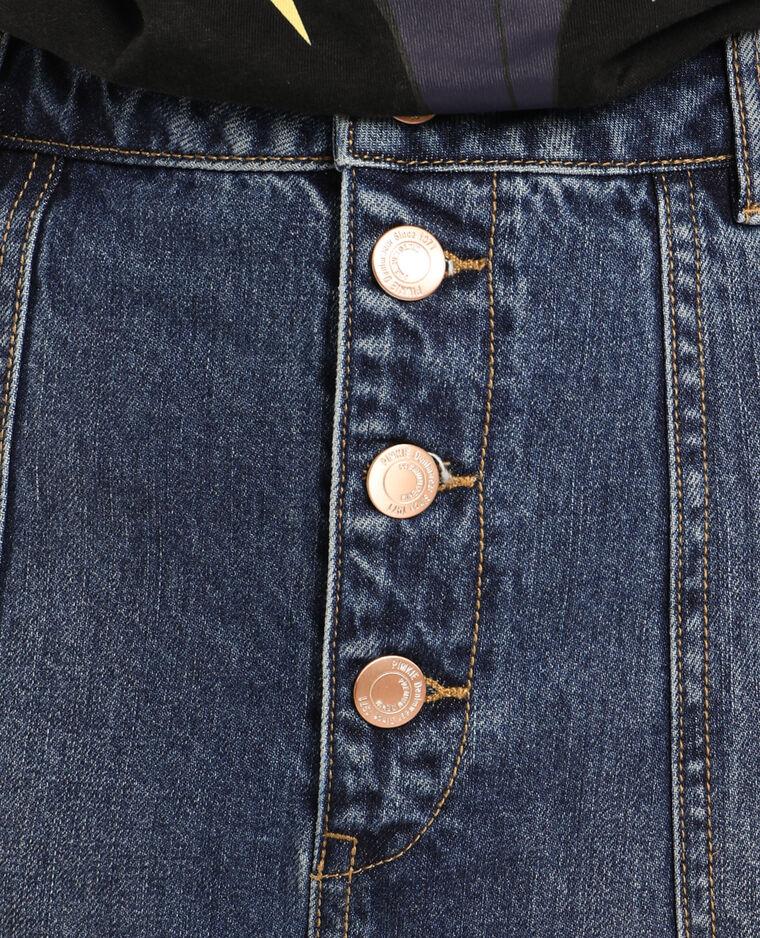 Jupe en jean destroy bleu foncé - Pimkie