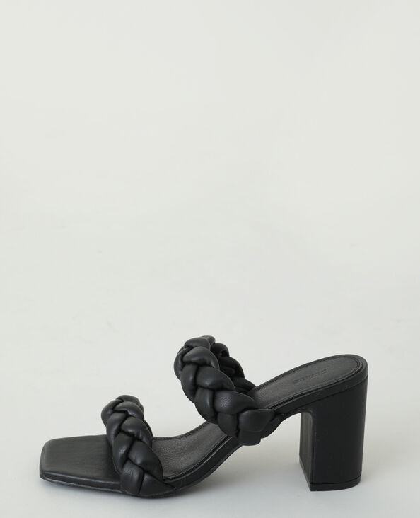 Mules à talons tressées noir - Pimkie