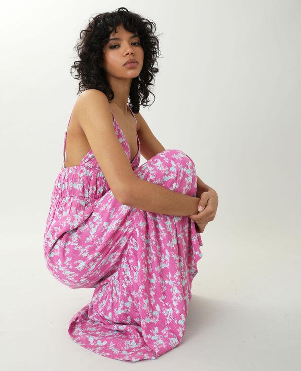 Robe longue fleurie rose - Pimkie
