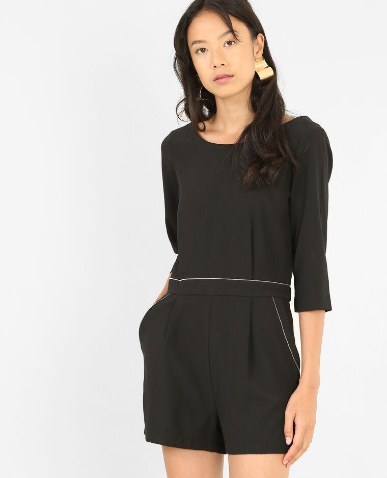 Combishort zippée noir - Pimkie