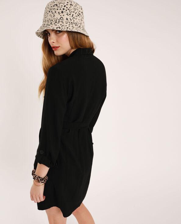 Robe chemise à ceinture noir
