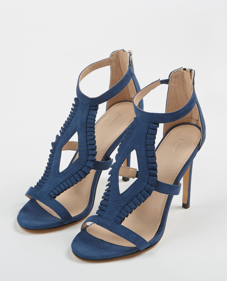 Sandales à talons Bleu