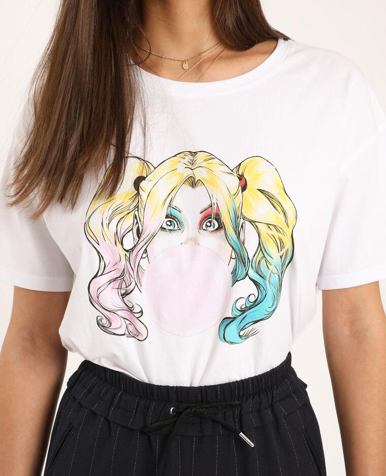 T-shirt Harley Quinn écru