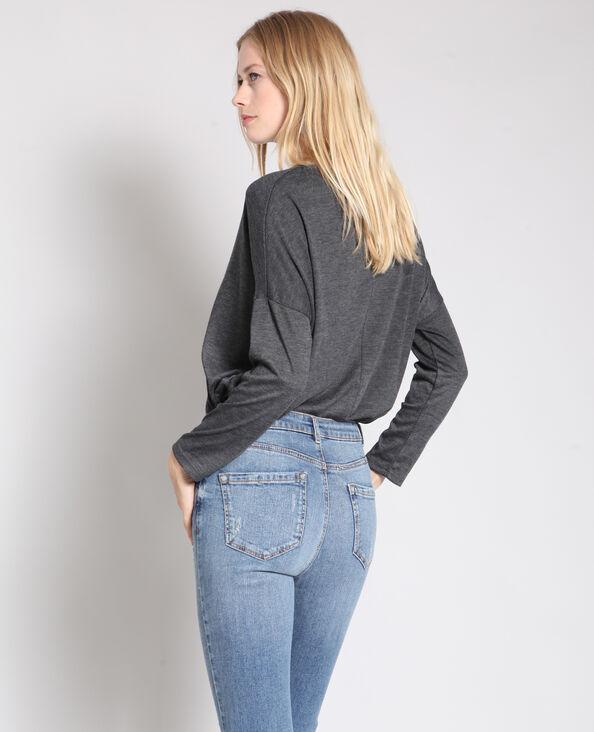 T-shirt à manches longues gris 05c72be021d